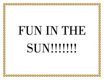 """""""Fun in the Sun"""" Bulletin Board Set"""