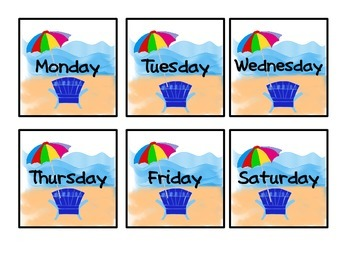 Fun in the Sun Classroom Calendar Set
