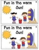 Fun in the Sun Emergent Reader Level B