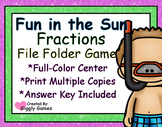 Fun in the Sun Fractions File Folder Game