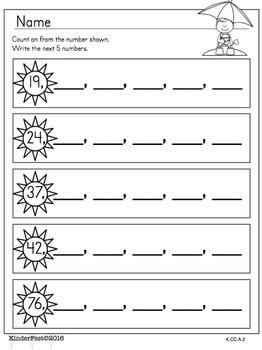Fun in the Sun!  Kindergarten Math Practice and Activities