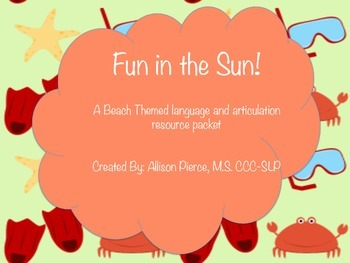 Fun in the Sun Language and Articulation Activities
