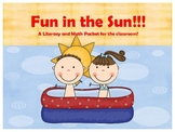 Fun in the Sun Literacy and Math Center Game Packet
