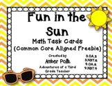 Fun in the Sun Math Task Cards {Common Core Freebie}