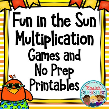 Summer Multiplication Games and Worksheets