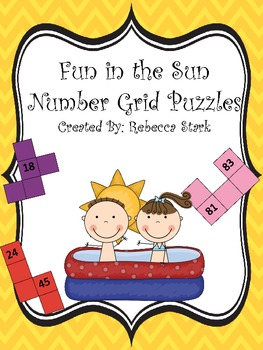 Fun in the Sun Common Core Number Grid Puzzles