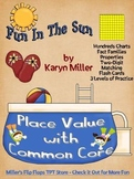 Fun in the Sun Place Value - Hundreds Charts & Fact Family Practice