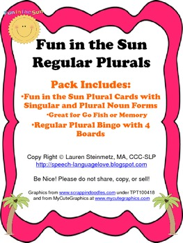 Fun in the Sun Regular Plurals Pack