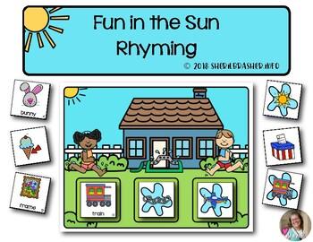 Fun in the Sun Rhyming | Literacy | Game