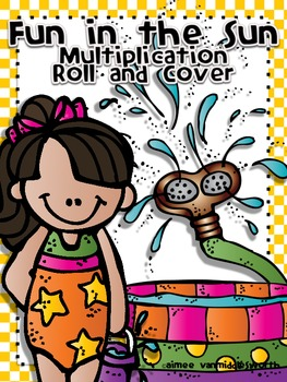 Fun in the Sun Roll and Cover for Multiplication Center Activity