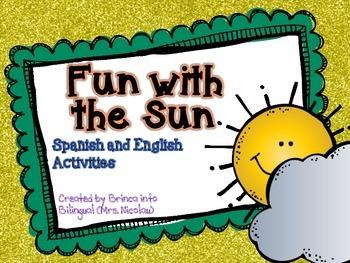 Fun in the Sun - Science Mini Unit in SPANISH AND ENGLISH