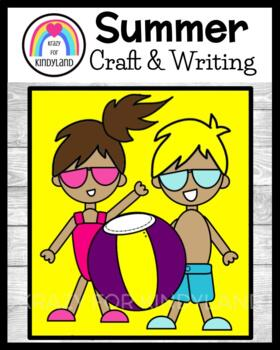 Summer / Beach Craft and Writing: Swim Kids with Beach Ball