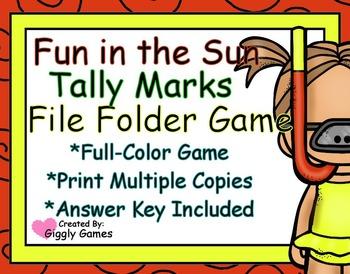 Fun in the Sun Tally Marks File Folder Game