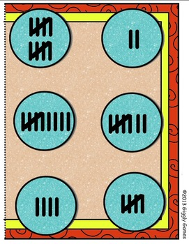 Fun in the Sun Tally Marks File Folder Game