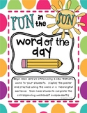 Fun in the Sun Word of the Day