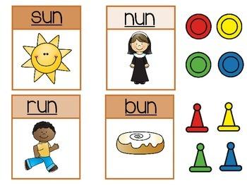 Fun in the Sun--a -un Word Family Game