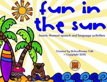 Fun in the Sun {beach-themed speech and language activities}