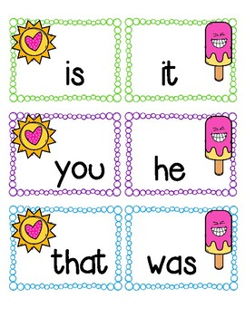 Fun in the Sun with Fry Words!