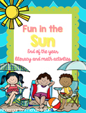 Fun in the sun: End of the year math and literacy activities!