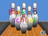 Back to school fun interactive quiz – editable