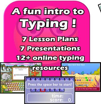 Fun intro typing - 7 lesson elementary unit.