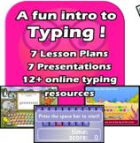 Fun intro typing - 7 lesson elementary unit - EDITABLE