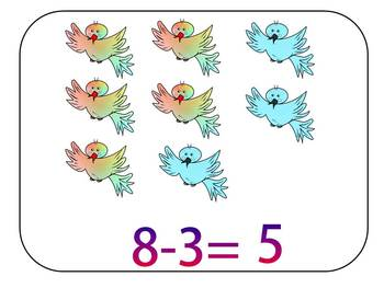 Addition and Subtraction - Fun math - Birds