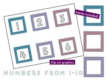 Fun numbers clip art 1-10