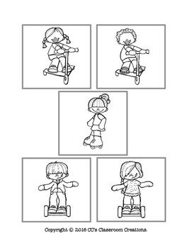 Fun on Wheels Matching Tasks