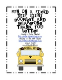 Fun on a Field Trip Mini Booklet and Chaperone Thank You Letter