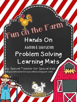 Fun on the Farm- Interactive Problem Solving Math Mats