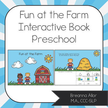 Fun at the Farm Interactive Preschool Book