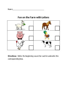 Fun on the Farm with Letters
