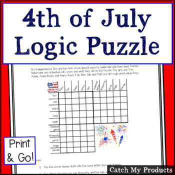 Logic Puzzle : Fun on the Fourth - Independence Day (July 4th)