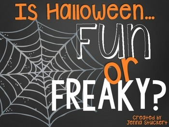 Fun or Freaky? (Graphing Activities to Celebrate Halloween)
