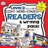 Sight Word Leveled Readers, Sentence Puzzles and Activities Level B 5 pack!