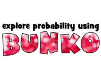 Fun probability activity using BUNKO