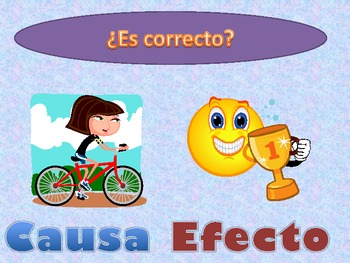 Fun quick activity Causa y efecto