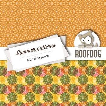 View Retro Summer Papers DXF