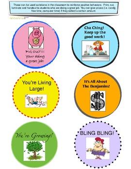 Fun reward tokens for good behavior