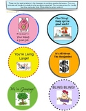 Fun reward tokens for good behavior