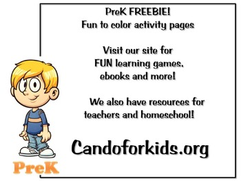 Fun to Color Activity Pages - PreK