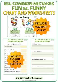 Fun vs. Funny - ESL Worksheets