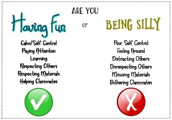 Fun vs. Silly Poster - Classroom Management Resource