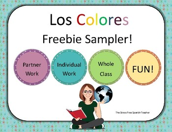 COLORS, COLORES sampler pack for practice and review
