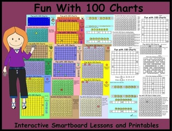 Fun with 100 Charts: Interactive Smartboard Lessons and Pr