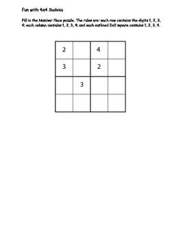 Sudoku 3rd grade
