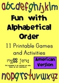 Fun with Alphabetical Order – Printable Games and Activiti
