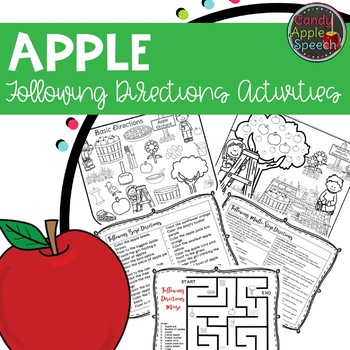 Apple Following Directions Activities