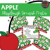 Apple Playdough Smash Mats